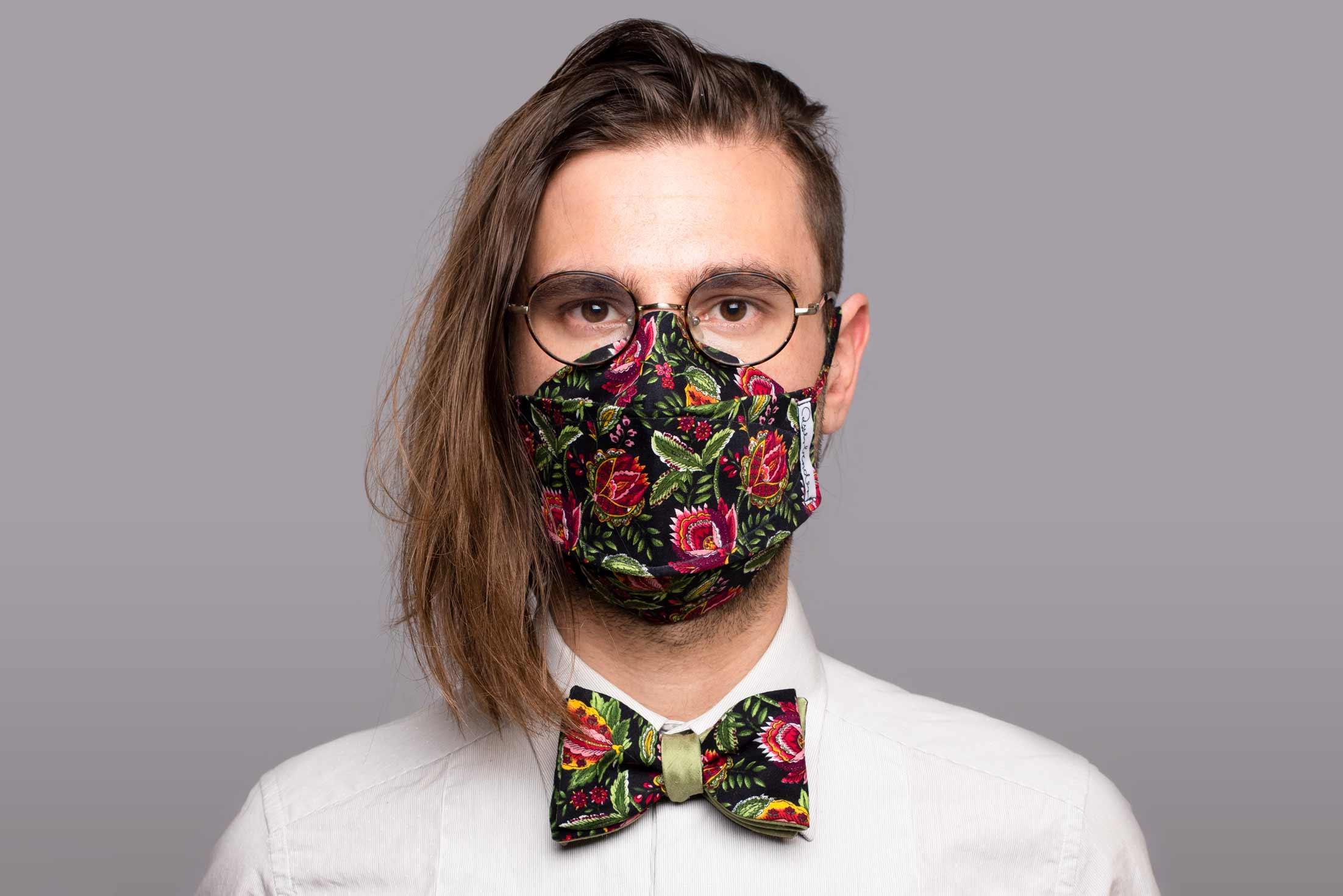 Ivy - Set aus Maske und Schleife